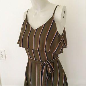 J.O.A   Striped Dress